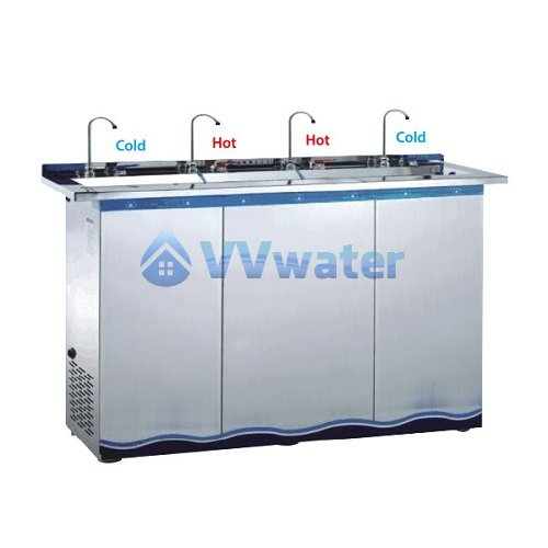 W500C-4P 4 Pipe Hot and Cold Stainless Steel Water Cooler