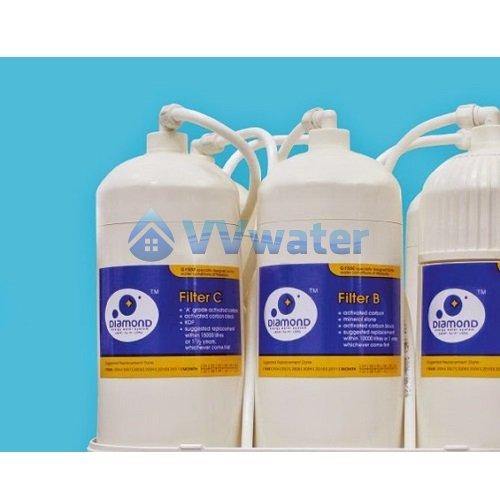 Daiwaki Diamond G1500 4 Water Filter Set