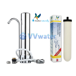 C1-1 Stainless Steel Single Water Filter + Supercarb
