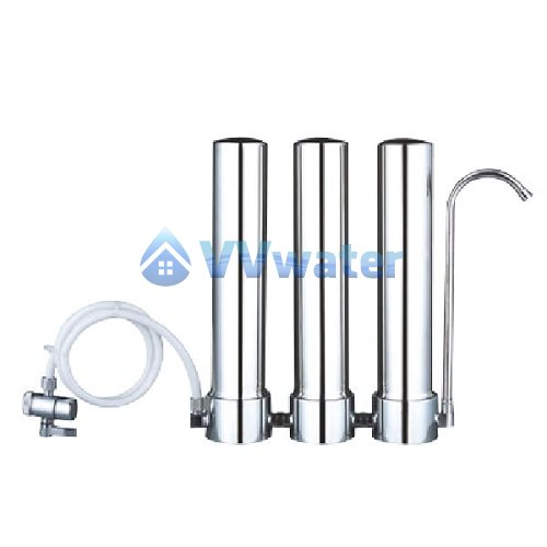 C1-3 Stainless Steel Triple Water Filter + Supercarb